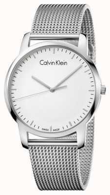 Calvin Klein 男士城市不锈钢网带银色表盘 K2G2G126