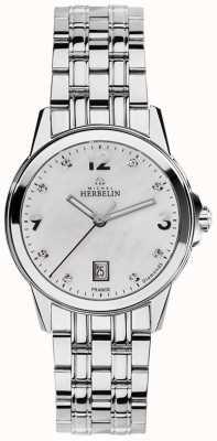 Michel Herbelin 女人不锈钢城市的珍珠钻石表盘的母亲 14250/B89