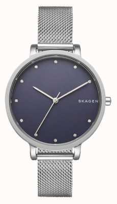 Skagen 女士银色skagen手表|不锈钢网带| SKW2582
