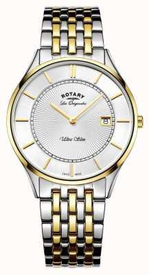 Rotary 男士两色调手镯超薄 GB90801/02