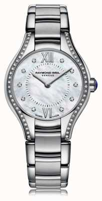 Raymond Weil Womans Noemia 62钻石珍珠母贝表盘 5124-STS-00985