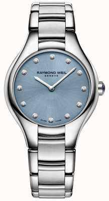 Raymond Weil 女人贫血症12钻石蓝 5132-ST-50081