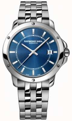 Raymond Weil 男士探戈不锈钢蓝色指针表盘 5591-ST-50001