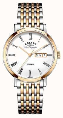 Rotary 男士双色玫瑰手镯 GB90155/01
