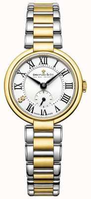 Dreyfuss女士们1974年的双色镀金手表 DLB00158/01