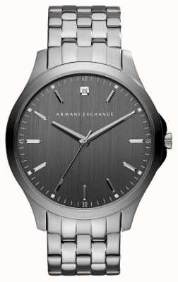 Armani Exchange 男士枪金灰色不锈钢手表 AX2169
