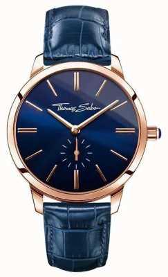 Thomas Sabo 女士魅力精神蓝色皮革 WA0250-270-209-33