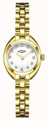 Rotary 女人手镯表带镀金 LB05015/11