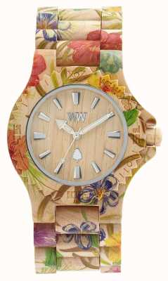 WeWood 女装日期花米色木质表带 70221200