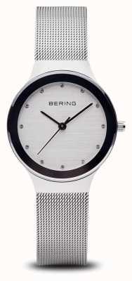 Bering 女人|不锈钢银色网带|白脸| 12934-000