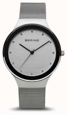 Bering 女装经典 抛光银 银色网状手链 12934-000