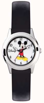 Disney Adult 米老鼠银色表壳黑色表带 MK1314