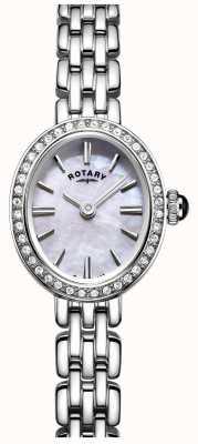 Rotary 女人不锈钢鸡尾酒手表珍珠母 LB05050/07