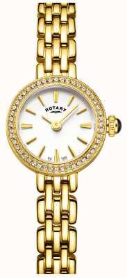 Rotary 女子镀金石镶鸡尾酒手表 LB05053/02
