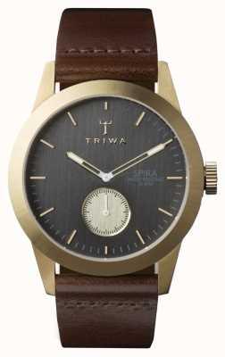 Triwa 男士灰spira棕色皮革 SPST101-CL010413