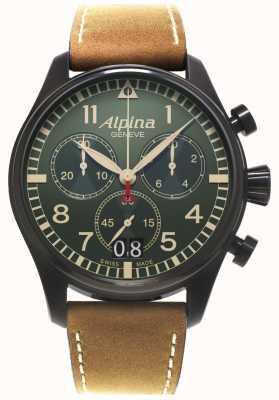 Alpina 男士startimer飞行员计时码表石英 AL-372GR4FBS6