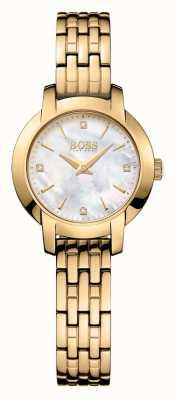 Hugo Boss 女装成功镀金珍珠贝母表盘 1502381