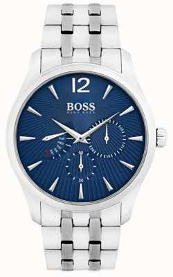 Boss 男士指挥官不锈钢表链蓝色表盘 1513492