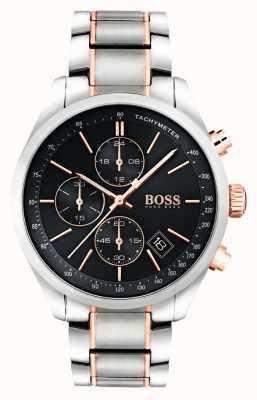 Hugo Boss 男士不锈钢手链黑色表盘 1513473