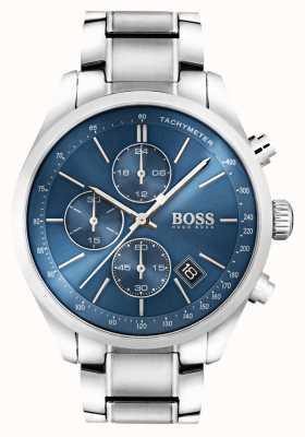 Hugo Boss 男士大奖赛不锈钢蓝色表盘 1513478