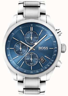 Boss 男士大奖赛不锈钢蓝色表盘 1513478