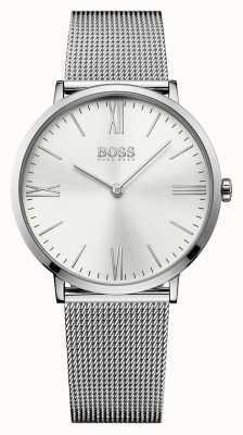 Hugo Boss 男士杰克逊不锈钢网带银色表盘 1513459