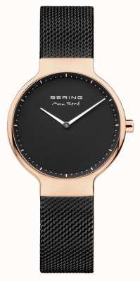 Bering 女士最大rené可互换网带黑色 15531-262