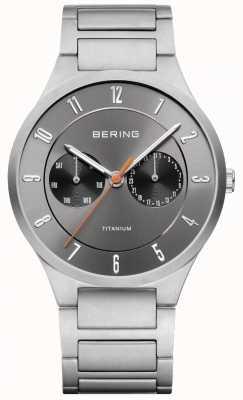 Bering 男士钛金灰色计时腕表 11539-779