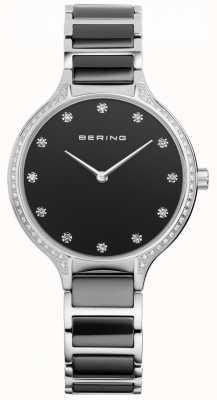 Bering 女士黑色陶瓷氧化锆套装手表 30434-742