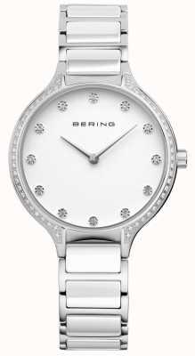 Bering 女士白色陶瓷氧化锆集手表 30434-754