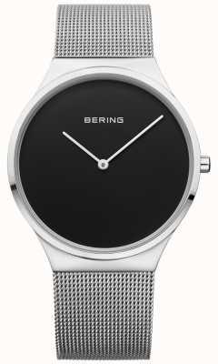 Bering 男士经典米兰尼斯黑色网面 12138-002