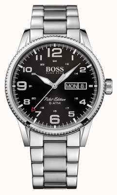 Hugo Boss 男士飞行员复古不锈钢手表 1513327
