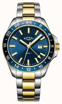 Rotary 男装哈瓦那gmt两色调蓝色 GB05082/05