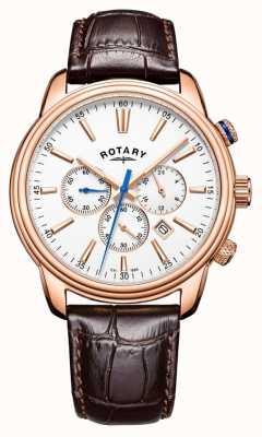 Rotary 男士摩纳哥运动计时皮革 GS05084/06