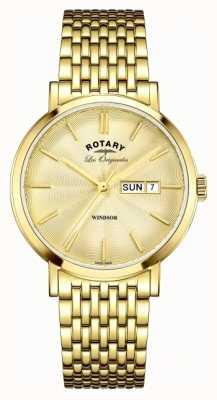 Rotary 男士温莎镀金表带 GB90156/03