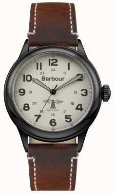 Barbour 男士murton棕色皮革 BB056CMBR