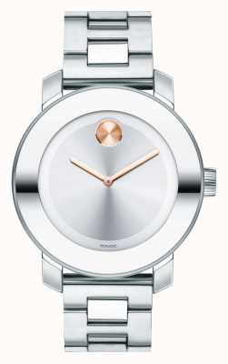 Movado 大胆的中型k1水晶不锈钢 3600084