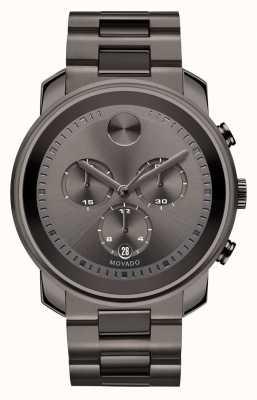 Movado 粗体大号计时码表枪金属灰色离子镀 3600277