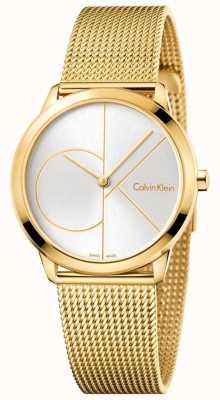 Calvin Klein 女人最小的金色调网 K3M22526