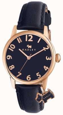 Radley 女人利物浦街头海军皮革表带 RY2456