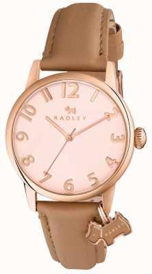 Radley 女人利物浦路灯棕色皮革表带 RY2458