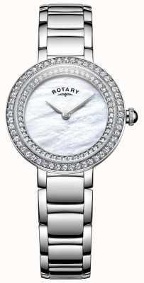 Rotary 女人石镶鸡尾酒手表 LB05085/41L