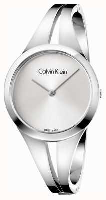 Calvin Klein 女人上瘾钢手镯银色表盘米 K7W2M116