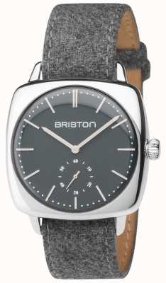 Briston 男士clubmaster复古灰色表盘灰色织物表带 17440.PS.V.17.LFG