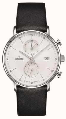 Junghans c型计时表小牛皮黑色表带 041/4770.00