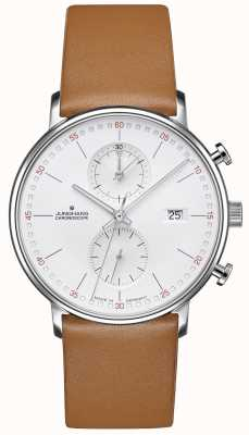 Junghans Form c chronoscope小牛皮棕色表带 041/4774.00
