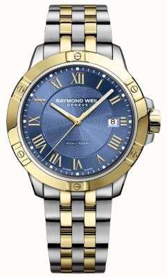 Raymond Weil 男士探戈手表|不锈钢表带|深蓝色表盘| 8160-STP-00508