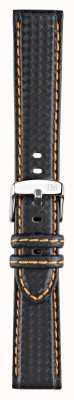 Morellato 仅表带 - 自行车技术黑色/橙色18毫米 A01U3586977886CR18