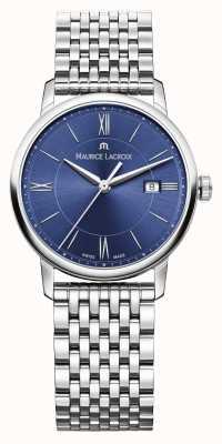 Maurice Lacroix 女士eliros不锈钢手链蓝色表盘 EL1094-SS002-410-1