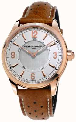 Frederique Constant 男士钟表smartwatch蓝牙棕色皮革表带 FC-282AS5B4